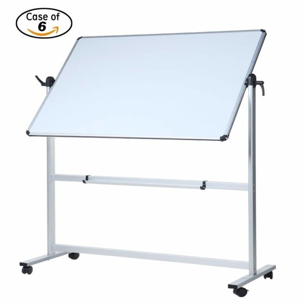 Double-Sided Magnetic Rotating Whiteboard