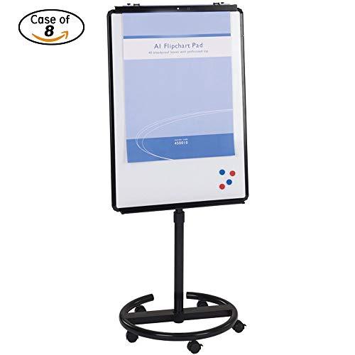 Case-of-8-VIZ-PRO-ECO-Magnetic-Mobile-WhiteboardFlipchart-Easel-Black-28-W-X-40-L-B07G4Y1882