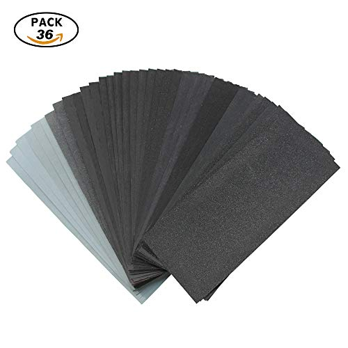 Sandpaper For Metal >> Viz Pro 36 Pcs 120 To 3000 Assorted Grit Sandpaper For Metal Sanding Automotive Polishing And Wood Furniture Finishing Dry Or Wet Sanding 9 X 3 6