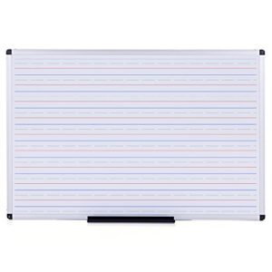 VIZ-PRO-Double-Sided-Magnetic-Dry-Erase-BoardWhiteboard-Penmanship-Lines-60-x-36-Inches-B073GRC7FT