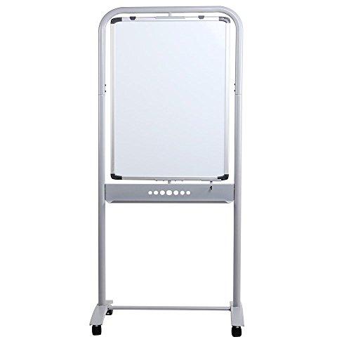 VIZ-PRO-Double-sided-Magnetic-Mobile-Whiteboard-Portrait-Orientation-Steel-Stand-B01ISJHKKW