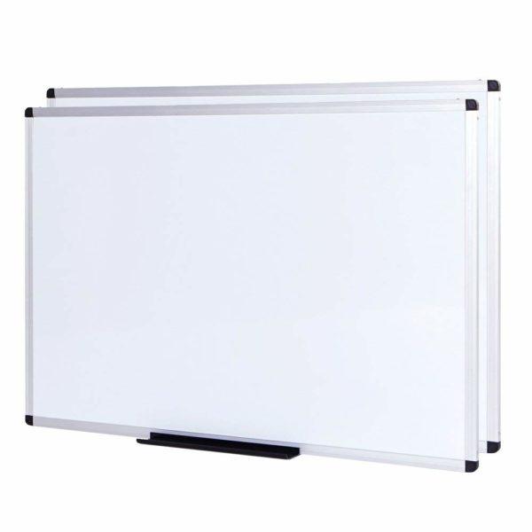 VIZ-PRO-Dry-Erase-Board-Melamine-Silver-Aluminium-Frame-B078W7P6KK