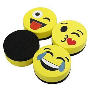 VIZ-PRO-Magnetic-Smiley-Face-Circular-Whiteboard-Eraser-B076J6Y4DH