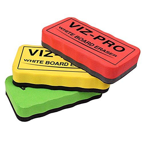 VIZ-PRO-Magnetic-White-Board-Eraser-3-Colored-Eraser-3-Piece-B01GDWYOKK