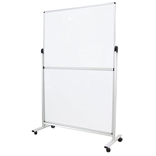 VIZ-PRO-Mobile-Room-DividerOffice-Partition-Double-sided-Magnetic-Whiteboard-48Wx72H-B01GC9J8AU