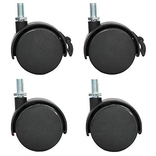 VIZ-PRO-Mobile-Whiteboard-Caster-Wheels-Black-Set-of-4-B07L5BNJ7R