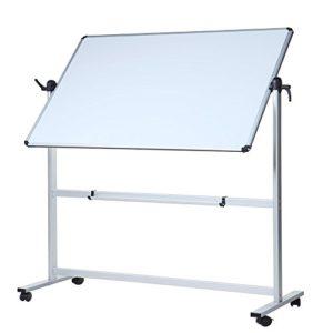 VIZ-PRO-Mobile-Whiteboard-MagneticOffice-Whiteboard-Aluminium-Frame-and-Stand-B075XC4M19