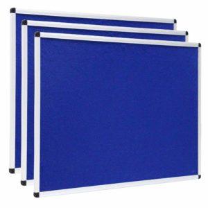 VIZ-PRO-Notice-Board-Felt-Blue-Silver-Aluminium-Frame-B00XIXA5Y2
