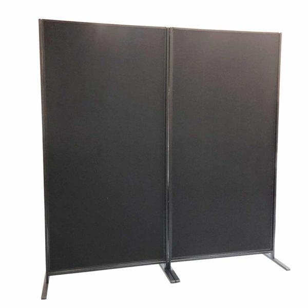 VIZ-PRO-Room-DividerOffice-Partition-2-Pack-Double-Sided-Notice-Board-Felt-Black-48Wx96H-B07K19V49W
