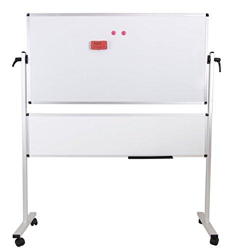 Viz-Pro-Double-Sided-Magetic-Mobile-Whiteboard-whiteboard-plus-whiteboard-Aluminium-Frame-Stand-B016Q0SAOA